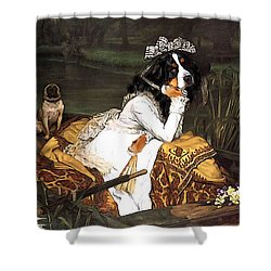The Lady Of The Lake Shower Curtain by Jaime De Haas