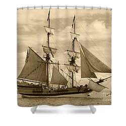 The Lady Washington Ship Shower Curtain