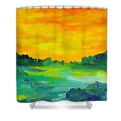The  Lagoon Shower Curtain