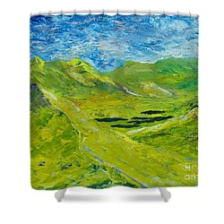 The Lakes Of Killarney  Original Sold Shower Curtain