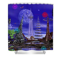 Shower Curtain featuring the photograph The Lakes Of Zorg by Mark Blauhoefer