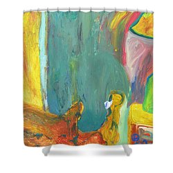 The Lamp And Bamboo Shower Curtain