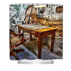 The Lamp And The Chair Shower Curtain by Paul Ward