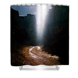 The Land Of Light Shower Curtain by Dubi Roman