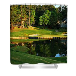 Golf At The Landing #3 In Reynolds Plantation On Lake Oconee Ga Shower Curtain by Reid Callaway