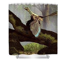 The Last Dinosaur Shower Curtain