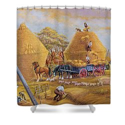The Last Load Shower Curtain by Dudley Pout