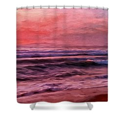 The Last Set Shower Curtain by Michael Pickett