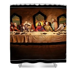 The Last Supper Shower Curtain by Blake Richards