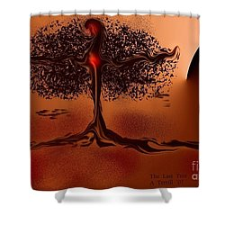 Shower Curtain featuring the digital art The Last Tree by The Art of Alice Terrill