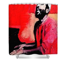 The Late Great Marvin Gaye Shower Curtain