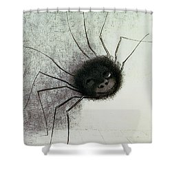 The Laughing Spider Shower Curtain by Odilon Redon
