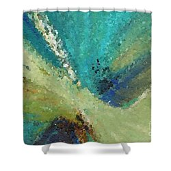 The Law Of Opposition. Revelation 2 7 Shower Curtain by Mark Lawrence