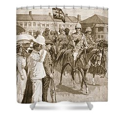 The Leader Of The Allies, Illustration Shower Curtain by Ernest Prater