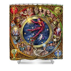 The Legacy Of The Devine Tarot Shower Curtain by Ciro Marchetti
