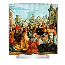 The Legend Of The Holy Cross Shower Curtain by Barthel Beham