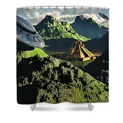 The Legendary South American Golden Shower Curtain by Mark Stevenson