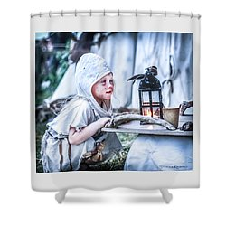 Shower Curtain featuring the photograph The Leprosy Child And The Healing Lantern by Stwayne Keubrick