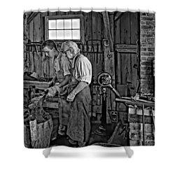 The Lesson Monochrome Shower Curtain by Steve Harrington