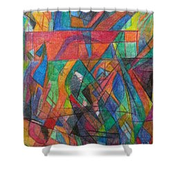 The Letter Dalet 2 Shower Curtain by David Baruch Wolk