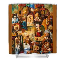 Shower Curtain featuring the painting The Letter by Igor Postash