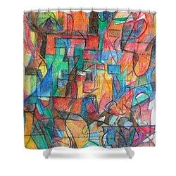 The Letter Tav 2 Shower Curtain by David Baruch Wolk