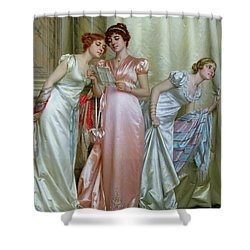 The Letter Shower Curtain by Vittorio Reggianini