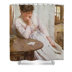 The Letter  Shower Curtain by Walter Langley