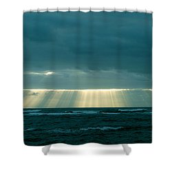 The Light Above Kapoho Shower Curtain