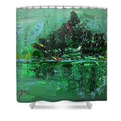 The Light Of The Silvery Moon Shower Curtain by Donna Blackhall