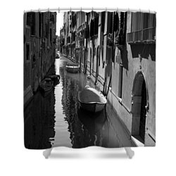 The Light - Venice Shower Curtain by Lisa Parrish