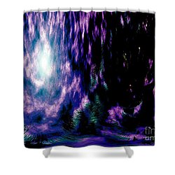Shower Curtain featuring the digital art The Light Within by Annie Zeno