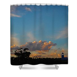 Shower Curtain featuring the photograph The Old Lighthouse by Mark Blauhoefer