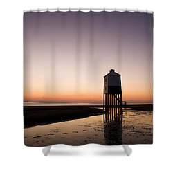 The Lighthouse On Legs Shower Curtain by Anne Gilbert