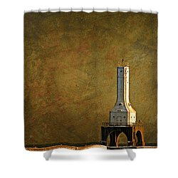 The Lighthouse - Port Washington Shower Curtain