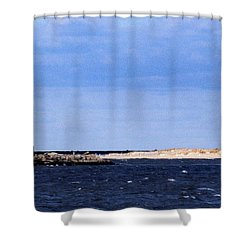 The Lights Of Lewes Shower Curtain by Skip Willits
