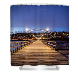 The Lights Of White Rock Beach - By Sabine Edrissi Shower Curtain by Sabine Edrissi