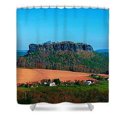 The Lilienstein Shower Curtain