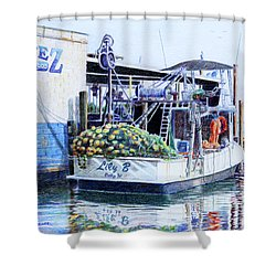 The Lily B Shower Curtain