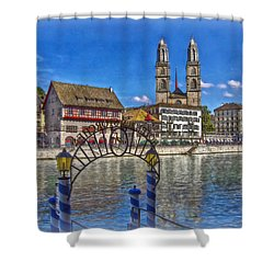 The Limmat City Shower Curtain