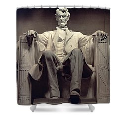 The Lincoln Memorial Shower Curtain by Daniel Chester French