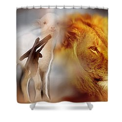 The Lion And The Lamb Shower Curtain
