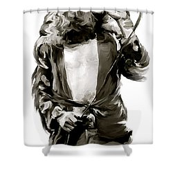 The Lion  Robert Plant Shower Curtain by Iconic Images Art Gallery David Pucciarelli