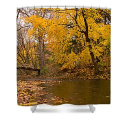 The Little Bridge Over Valley Creek Shower Curtain
