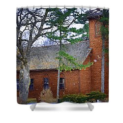 The Little Brown Church In The Vale Shower Curtain by Kirt Tisdale