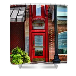 The Little Popcorn Shop In Wheaton Shower Curtain by Christopher Arndt