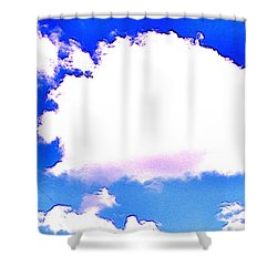 The Little White Cloud That Cried Shower Curtain by Sadie Reneau