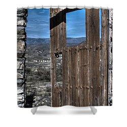 The Lockless Door Shower Curtain by Heiko Koehrer-Wagner