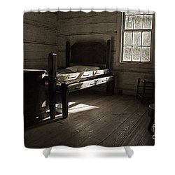 The Log Cabin C.1785 Shower Curtain by Robert Meanor