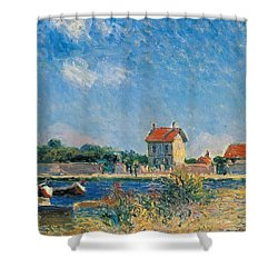 The Loing Canal At Saint-mammes Shower Curtain by Alfred Sisley
